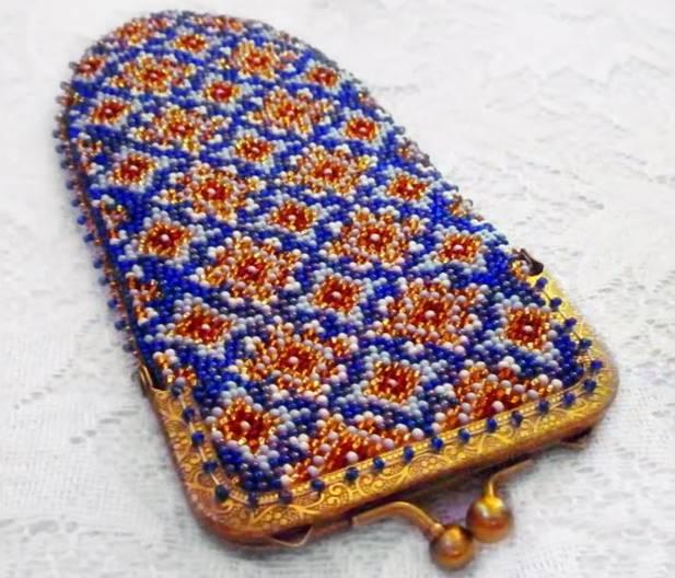 Вязание бисером чехол для очков